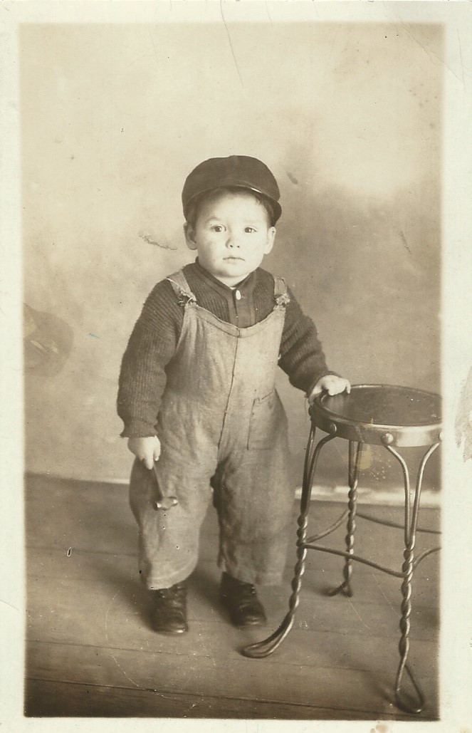 1918 or so-TM with toy hammer made by Elmer