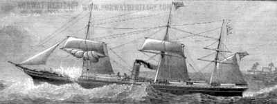 "The Sail Steamer ""City of London"" that the Heisigs traveled on in 1870."