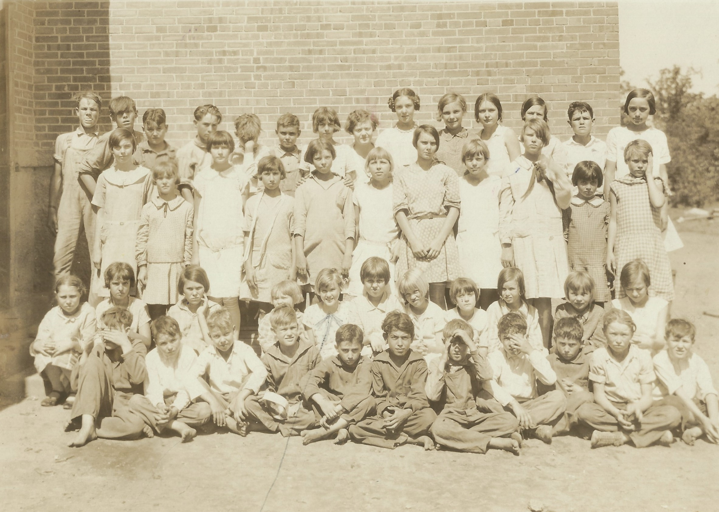 TM at Castleberry sch- back row 2nd from right