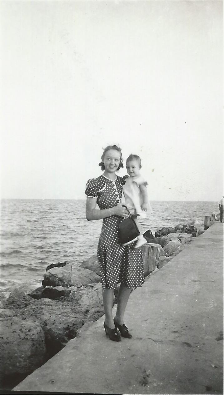 1939 or 40 BM w Linda on breakwater