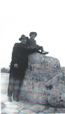 1943 or 44 TMM w Linda Mt Bonnell